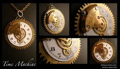 AMAZING pendant Time Machine Rare Unique by AbsyntheDesign on Etsy, $60.00