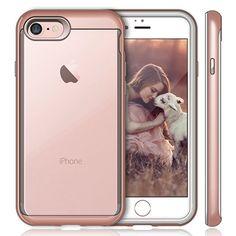 iVAPO Coque iPhone 7 Transparante en Silicone Coque iPhone 7 Durable  Antichoc Etui iPhone 7 Résistant Housse iPhone 7 de Ecran 4.7 Pouces PIANO  NOIR 7492537c6aec
