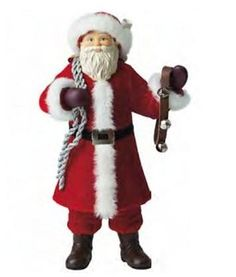 Hallmark Ornament Father Christmas #10 2013 Santa Claus in Red Robe with Staff