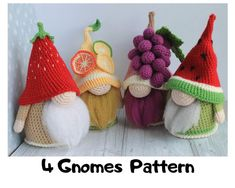 Crochet Doll Pattern, Crochet Patterns Amigurumi, Crochet Shark, Selling Crochet, Crochet Fruit, Fruit Pattern, Crochet Basics, Crochet Hook Sizes, Stuffed Toys Patterns
