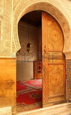 Moroccan mosque sliding doors...