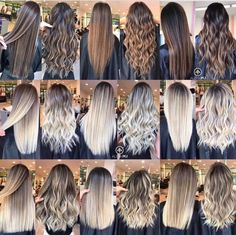 Trendy Hair Highlights Picture Description The most frequently asked question about hair color: What is the difference between balayage, flamboyage, ombre, sombre and foiling? Balayage Hair Color Technique Balayage is a freehand painting, it Hair Color Balayage, Blonde Balayage, Hair Highlights, Ombre Hair Color For Brunettes, Beige Blonde, Icy Blonde, Hair Color Techniques, Hair Styler, Pinterest Hair