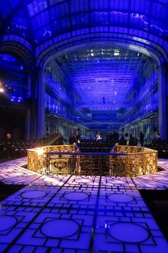 The runway setup for VERSACE's haute couture showcase