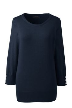 Women's Supima Cotton 3/4 Sleeve Sweater