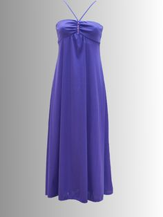 1970s Purple Sequined Maxi-Dress, £25.00 Retro Vintage Dresses, Retro Dress, Dresses For Sale, Summer Dresses, 1970s, Shoulder Dress, Purple, Fashion, Moda