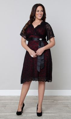 Our classic customer favorite, plus size Retro Glam Lace Dress, is now on sale!  Browse our entire made in the USA collection online at www.kiyonna.com.  #KiyonnaPlusYou