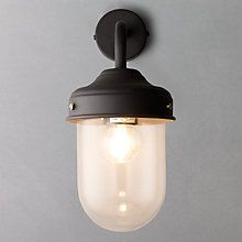 Buy Garden Trading Company Barn Wall Light, Coffee, Indoor/Outdoor Online at johnlewis.com