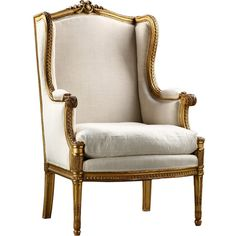 Alhambra Antiques - Beautiful French Antique Louis XVI style Giltwood... (253.565 RUB) ❤ liked on Polyvore featuring chair and furniture