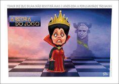 A REGRA DO JOGO - Temer diz que Dilma não resistirá 3 anos com popularidade baixa.