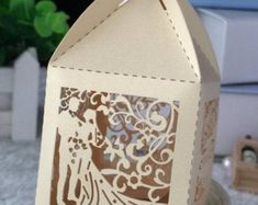 View Laser Cut Box by Kdecoration on Etsy Wedding Candy Boxes, Gifts For Wedding Party, Wedding Cards, Wedding Favors, Engagement Invitation Cards, Engagement Cards, Personalised Wedding Presents, Personalized Wedding, Laser Cut Wedding Invitations