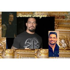Roman Reigns Gold by telley-m-jay on Polyvore featuring art