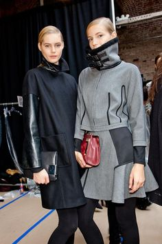 Leather accents @DKNY