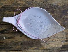 Porta Alianças em Cerâmica Modelados à mão *Modelo série simples  www.atelieranart.com.br