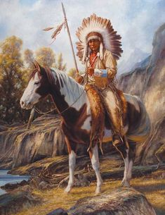 Indianen Photo: This Photo was uploaded by outlaw_hilco. Find other Indianen pictures and photos or upload your own with Photobucket free image and vide. Native American Horses, Native American Warrior, Native American Paintings, Native American Pictures, Native American Artists, Indian Paintings, He Man Tattoo, Sacred Spirit, Art Occidental