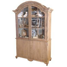 large distressed hugh cabinet w glass pane doors