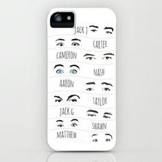Magcon Eyes... iPhone Case by Kate - $35.00 #magconboys #magcon #phonecase #nash #cameron #carter
