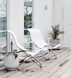 Outside Summer House, white deck