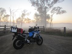 Sunrise in the mist on the Super Tenere Adventure Tours, Offroad, Touring, Mists, Sunrise, Road Trip, Motorcycles, Iron, Memories