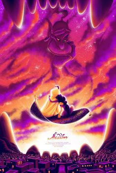 Private Commission for an alternative movie poster for the Disney classic 'Aladdin' by Tom Miatke Aladdin 1992, Aladdin Movie, Aladdin Art, Aladdin Wallpaper, Cute Disney Wallpaper, Images Disney, Walt Disney Pictures, Disney E Dreamworks, Disney Pixar