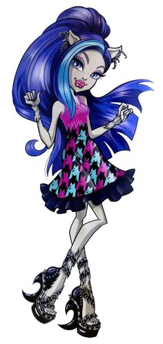 Silvi Timberwolf is a and all-around character. She is a werewolf and a student at Monster High. She has a passion for music, guitar in particular, and also knows how to get results with nail polish. In English, she is voiced by Katy Townsend. Monster High Wiki, Monster High School, Monster High Dolls, My Little Pony, History Cartoon, Monster High Pictures, Timberwolf, Ever After High, Princesas Disney