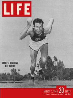 Life Magazine Copyright 1948 Olympic Sprinter Mel Patton - www.MadMenArt.com…