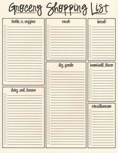 Printable Grocery List Template Pinn White On Outdoors & Rv  Pinterest  Planners .