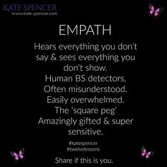 An empath feels ever emotions out there.makes my heart hurt ♡ Empath Traits, Intuitive Empath, Psychic Empath, Empath Abilities, Psychic Abilities, Sensitive People, Highly Sensitive Person, Infj Personality, E Mc2