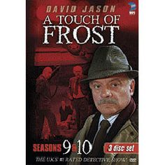"A Touch of Frost Season 9 & 10 DVD  One of Britain's most successful detective series, A Touch of Frost stars award-winning actor David Jason as Detective Inspector Jack Frost, an unconventional policeman with a knack for attracting trouble. Set in the dreary town of Denton near Bristol in southern England, Frost prefers solving crime to the monotony of police paperwork. Sloppy, disorganized and cantankerous, he often clashes with his commander, Superintendent Norman ""Horn-rimmed Harry""… Mystery Tv Series, Detective Series, A Touch Of Frost, David Jason, Star Awards, Jack Frost, 9 And 10, Bristol, Champion"