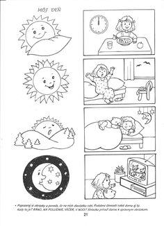 Dibujos para colorear del dia y la noche para preescolar