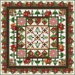 In The Beginning Magic of Winter Sampler Quilt Kit. Quilt measures 84.5 x 84.5