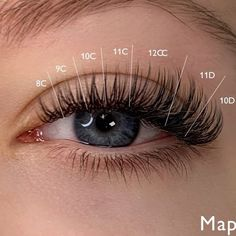 """Nina on Instagram: """"Here it is! I had some requests for the """"wet look""""mapping, here ya go 💁🏻♀️. What are wet look lashes? Are they classic? There not…"""" Natural Fake Eyelashes, Perfect Eyelashes, Best Lashes, Eyelash Extensions Classic, Eyelash Extensions Prices, Individual Eyelash Extensions, Curl Lashes, Wispy Lashes, Vaseline Eyelashes"""