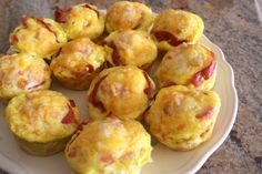 Bacon Egg and Biscuit Cups. You can make ahead and heat up for a quick school day breakfast!