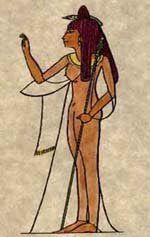 NEPHTHYS - No vale-tudo da mitologia, foi irmã-esposa de Set e de Osíris. Após a morte deste, separou-se de Set e se juntou a sua irmã Ísis em luto. É associada ao culto dos mortos e mostrada às vezes como uma mulher ao lado de sarcófagos.