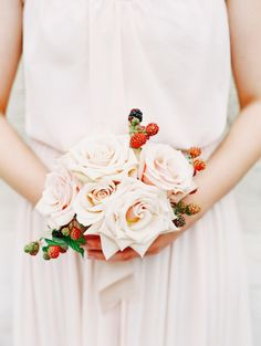 Roses and berries: http://www.stylemepretty.com/2015/01/05/bridesmaid-getting-ready-inspiration/ | Photography: Katie Stoops - http://katiestoops.com/