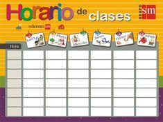 Horario de clase virgen ► EOC: imagina y explica tu horario de clase ideal, con tus asignaturas preferidas... :)