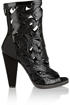 BalmainSofia embossed patent-leather boots