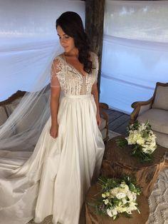 Mira Mandic Helena Gown - Custom made PreOwned Wedding Dress on Sale 65% Off