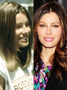 A 14-year-old Jessica Biel (born 3 March 1982) found stardom on the US TV show 7th Heaven in 1996.    10 years later she became a sex symbol after her appearance in I Now Pronounce You Chuck & Larry.