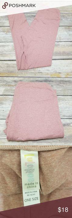 NWOT Lularoe Leggings OS Brand new! Never worn or washed!  Pale pink heathered leggings by LLR.  Size OS, made in China LuLaRoe Pants Leggings