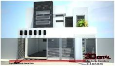 Resultado de imagen para fachadas COMERCIALES de dos pisos MINIMALISTAS