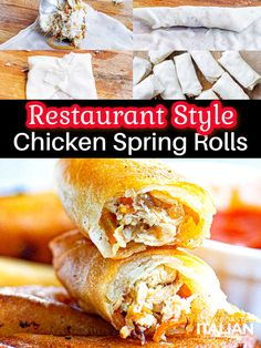 Great Chicken Recipes, Fun Easy Recipes, Quick Easy Meals, Asian Recipes, The Slow Roasted Italian, Chicken Spring Rolls, Orient Express, Hand Pies, Southern Comfort