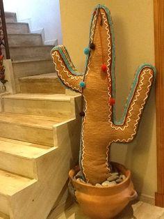 Cactus, arte textil, por Abisluz.