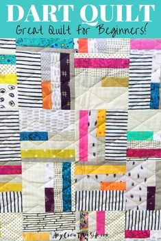 Watch my YouTube video quilting tutorial to learn how to make your first block for this simple quilt. This quilt pattern is great for beginners and can be made with fat quarters or fabric scraps. Download the Dart quilt pattern to get started today on this easy DIY sewing project. #easyquiltpattern #DIYsewingproject #quilttutorial Beginner Quilt Patterns, Quilting For Beginners, Quilting Tutorials, Traditional Quilt Patterns, Modern Quilt Patterns, Scrappy Quilts, Easy Quilts, Handmade Quilts For Sale, Paper Quilt