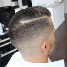Comb Over with Part and High Fade