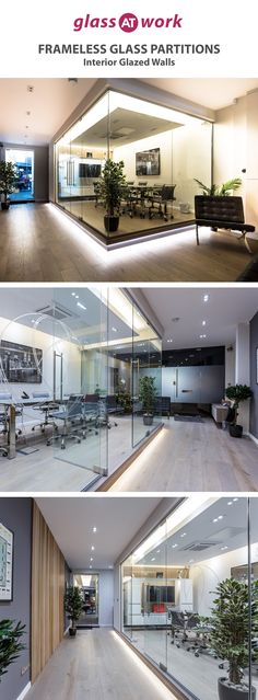 Beautiful glazed corner office in London by Glass At Work, the UK office partition experts. Glass Office Doors, Glass Office Partitions, Glass Partition, Modern Office Design, Office Interior Design, Office Interiors, Interior Design Living Room, Glazed Walls, Corner Office