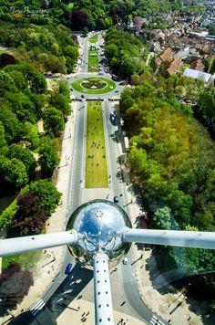 Atomium View , Laeken City of Brussels, Belgium