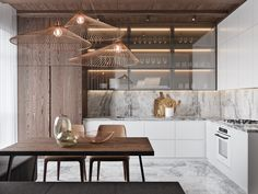 50 Lovely L-Shaped Kitchen Designs & Tips You Can Use From Them - Luxury Kitchen Remodel L Shaped Kitchen Designs, Modern Kitchen Design, Interior Design Kitchen, L Shaped Kitchen Interior, Modern Interior, Light Wood Kitchens, Cool Kitchens, White Kitchens, L Shape Kitchen Layout