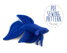 Betta Fish Stuffed Animal (3 Tail Types) pattern on Craftsy.com. Would be funny in a fish bowl.
