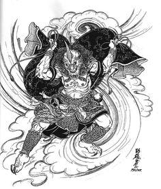 R Tattoo, Tattoo Drawings, Knight Tattoo, Japanese Mask, Japanese Folklore, Traditional Japanese Art, Asian Tattoos, Japan Tattoo, Irezumi Tattoos