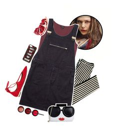 """""""Marvel Summer Style: Scarlet Witch + Tag"""" by kjvlulu ❤ liked on Polyvore featuring Monki, Margaret Howell, Aquazzura, NARS Cosmetics, Alice + Olivia and Forever 21"""